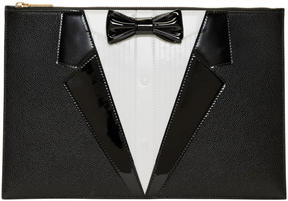 Thom Browne Black Trompe LOeil Tuxedo Pouch