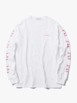 Have A Good Time Arm Logo L/s Tee - White