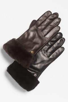 UGG 'Fashion Shorty' Genuine Shearling Tech Glove
