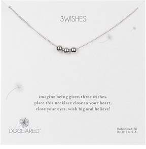 Dogeared Sterling Silver 'Three Wishes' Triple Ball Beaded Pendant Necklace