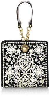 Tory Burch Darcy Embellished Clutch - BLACK - STYLE