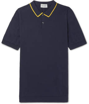 John Smedley Klerk Striped Sea Island Cotton Polo Shirt