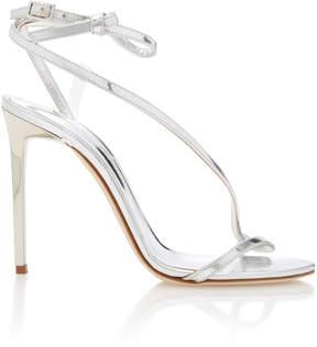 Oscar de la Renta Romy Metallic Leather Sandals