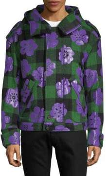 Moschino Plaid Hooded Jacket