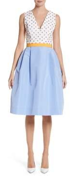 Carolina Herrera Beaded A-Line Silk Dress