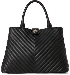 Urban Expressions Black Gazer Quilted Tote