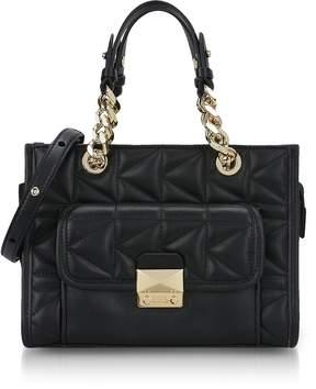 Karl Lagerfeld Black K/Kuilted Mini Tote Bag
