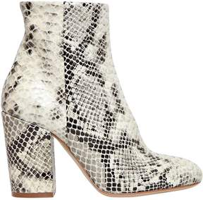 Strategia 90mm Printed Snake Leather Ankle Boots