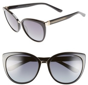 Jimmy Choo Women's 'Danas' 56Mm Cat Eye Sunglasses - Black