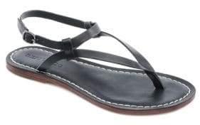 Bernardo Merit Metallic Suede Thong Sandals