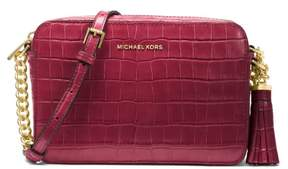 Michael Kors Ginny Embossed-Leather - Crossbody - Mulberry - 32F7GGNM2E-666 - ONE COLOR - STYLE