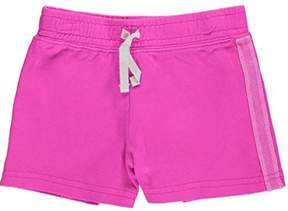 Carter's Little Girls Sparkle Side Stripe Neon French Terry Shorts Pink 2T