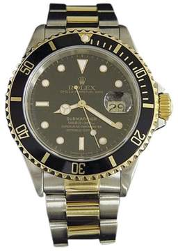 Rolex Submariner 16613 18K Yellow Gold & Stainless Steel With Black Dial 40mm Mens Watch