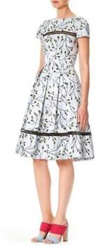 Carolina Herrera Flower Bud Print A-Line Dress