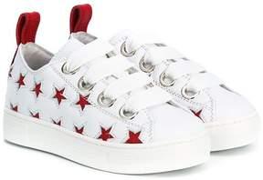 No.21 Kids star-cutout sneakers