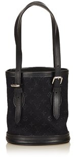 Louis Vuitton Pre-owned: Monogram Satin Little Bucket. - BLACK - STYLE