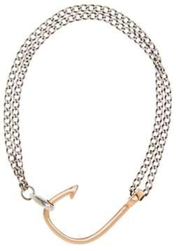 Miansai Rose Gold Plated Sterling Silver Hook On Bracelet