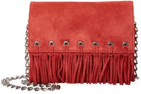 Longchamp Women's Paris Rocks Fringe Calfskin Suede Crossbody Bag - RED - STYLE