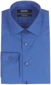 Murano Slim-Fit Spread Collar Performance Solid Dress Shirt