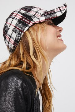 Free People Check Me Out Plaid Baseball Hat