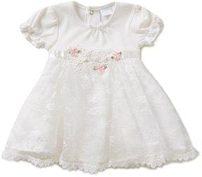 Edgehill Collection Baby Girls Newborn-6 Months Rosette Bodysuit