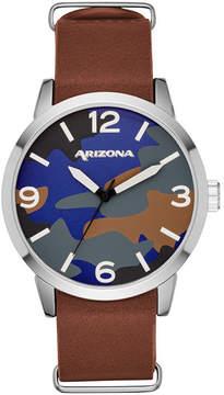 Arizona Mens Brown Strap Watch-Fmdarz530