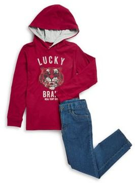 Lucky Brand Little Boy's Two-Piece Hoodie and Jeans Set
