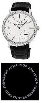 Piaget Altiplano Silvered Dial 18K White Gold Diamond Automatic Men's Wach GOA39138