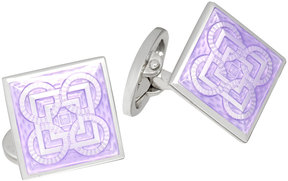 Jan Leslie Square Cuff Links w/Square & Circle Design