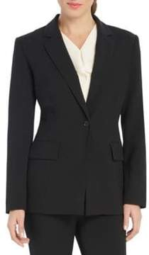 Ellen Tracy Solid Long Sleeve Blazer