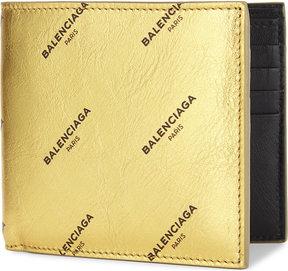 Balenciaga Logo leather billfold wallet
