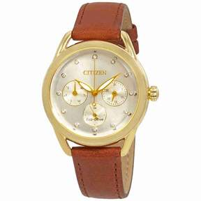 Citizen LTR Crystal White Dial Ladies Watch FD2052-07A