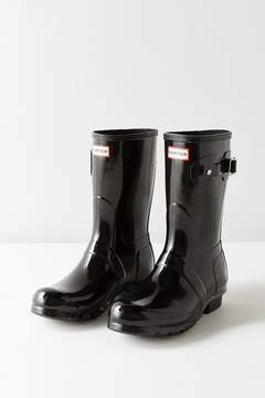 Hunter Short Gloss Buckled Rain Boot