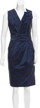 Escada Pleat Accent Midi Dress