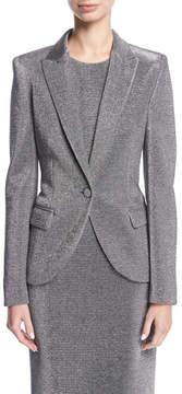 Escada Lurex® Notch-Collar One-Button Blazer