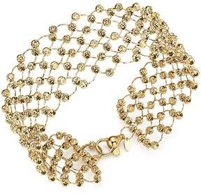 Bloomingdale's 14K Yellow Gold Beaded Statement Bracelet - 100% Exclusive
