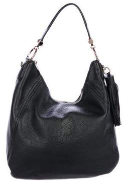 Michael Kors Grained Leather Hobo - BLACK - STYLE