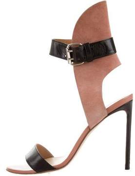 Francesco Russo Suede Ankle Strap Sandals