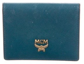 MCM Leather Compact Wallet