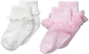 Jefferies Socks Ruffle & Ripple Edge 2-Pack (Infant/Toddler/Little Kid)