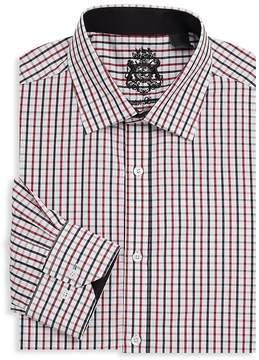English Laundry Men's Graphic Cotton Dress Shirt