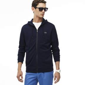 Lacoste Men's Hooded Zippered Fleece Sweatshirt