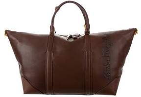 Salvatore Ferragamo Logo-Embellished Leather Weekender