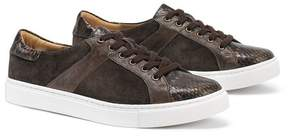 Trask Lindsey Embossed Leather & Genuine Calf Hair Sneaker