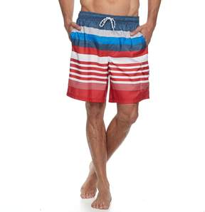 Croft & Barrow Big & Tall Home Free Striped Swim Trunks