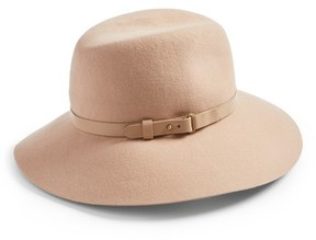 Eric Javits Women's 'Fanny' Water Repellent Wool Fedora - Beige