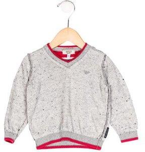 Armani Junior Boys' Long Sleeve Rib Knit Sweater
