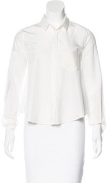 Boy By Band Of Outsiders Silk Button-Up Blouse