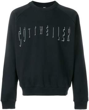 Cottweiler logo embroidered sweatshirt