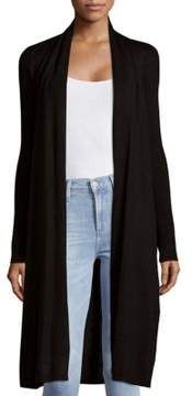 Saks Fifth Avenue BLACK Wool-Blend Open Front Duster Cardigan